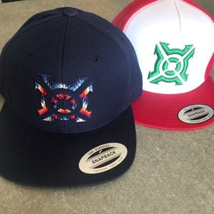 2 pack brand new Progenex snapback hats